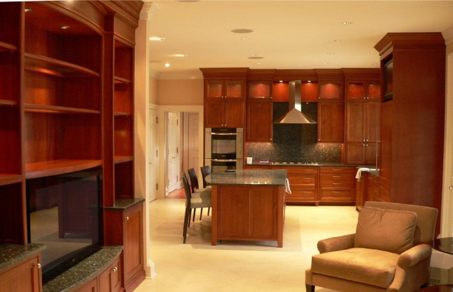 ... Contemporary Shaker Style Built In Bookcases, Entertainment Center, And  Kitchen Cabinets By Carolina ...