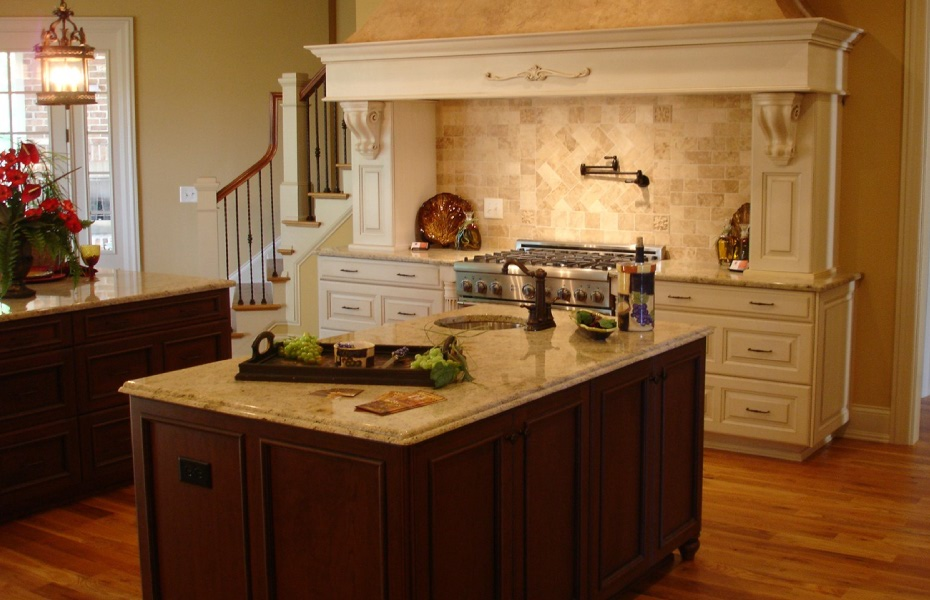 Unique Kitchen Design With Prep Sink Island By Carolina Cabinet Specialist